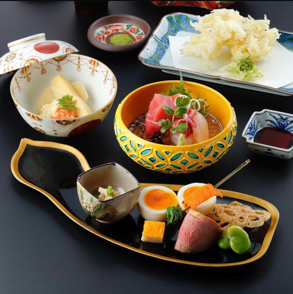 京懐石の老舗とコラボした『瓢樹×MOGANA 懐石スタイル夕食』(10,500円・税込)。